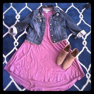 LulaRoe pink Carly dress size S